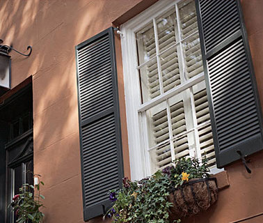 Recessed Track Accordion Shutters